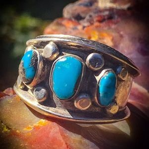 SOLD Native American real Navajo turquoise ring